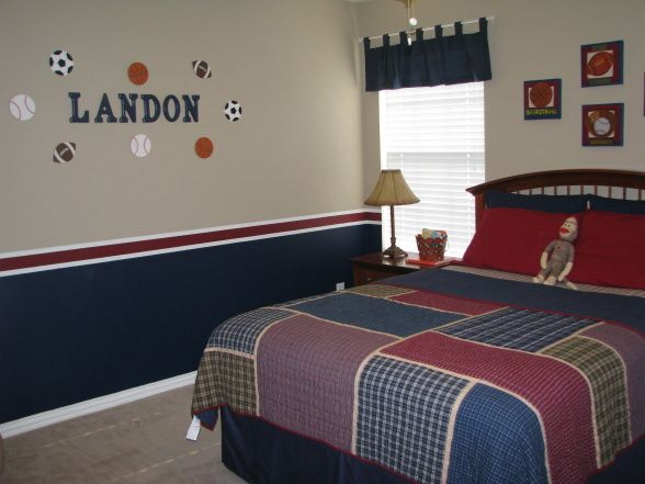 Boys Rooms Sports Decorating Ideas