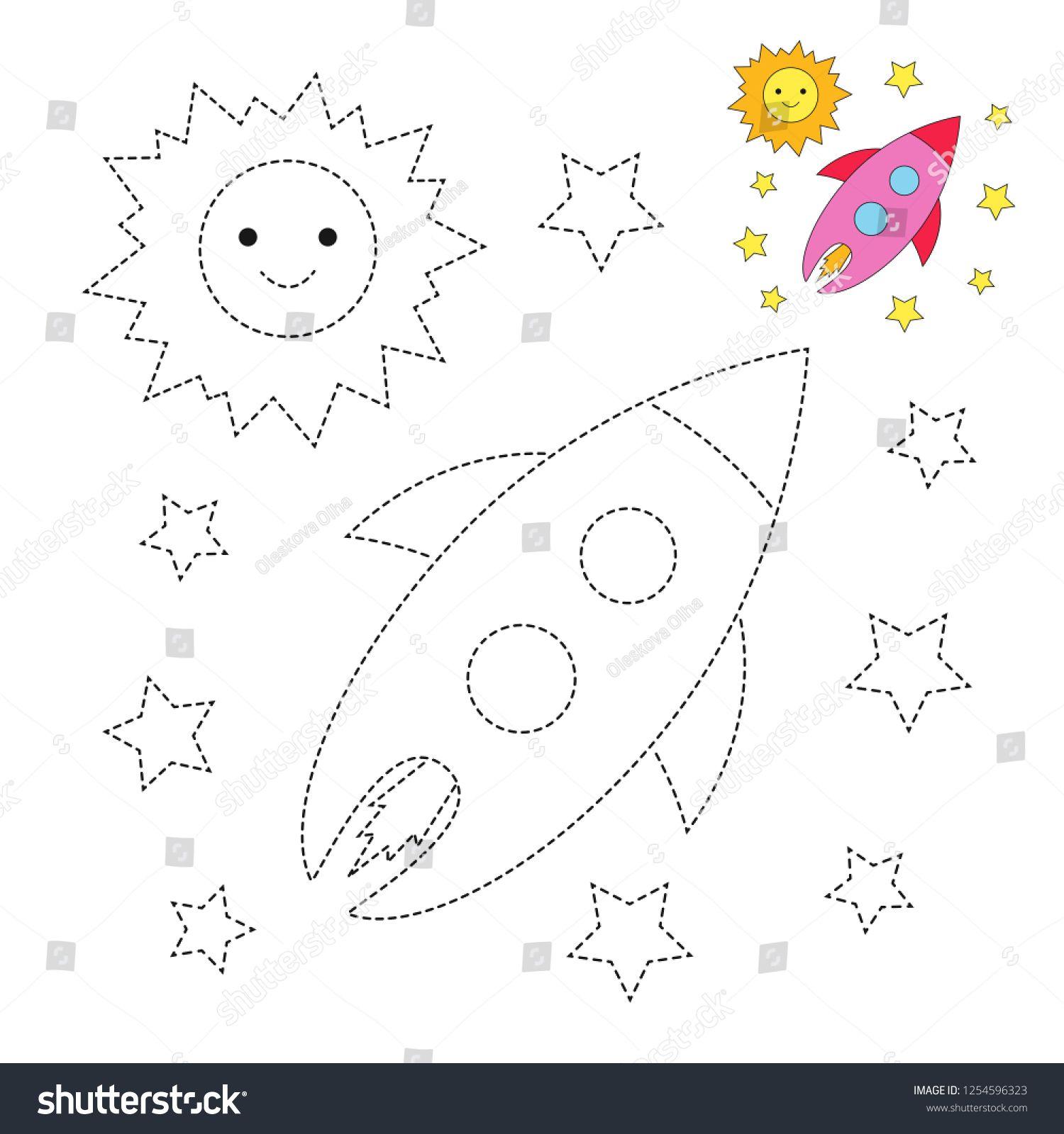 Vector Drawing Worksheet For Preschool Kids With Easy