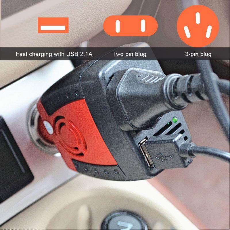 BRIDNA 150w Cigarette Lighter car charger converter dc 12v