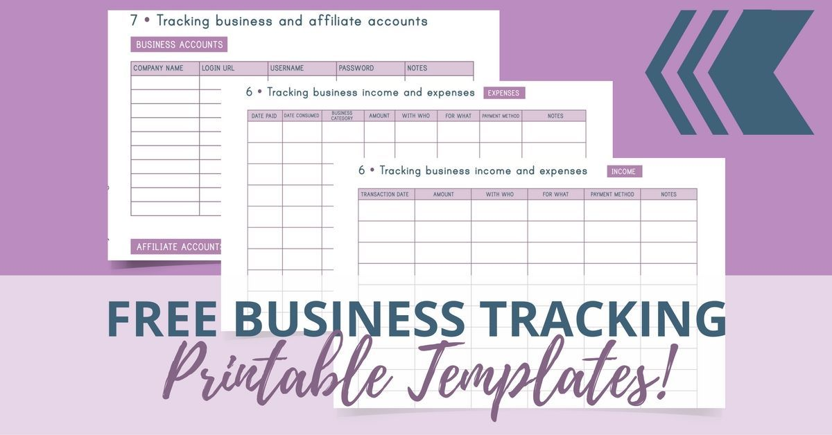 FREE Business Tracking Printable Templates Template, Business and