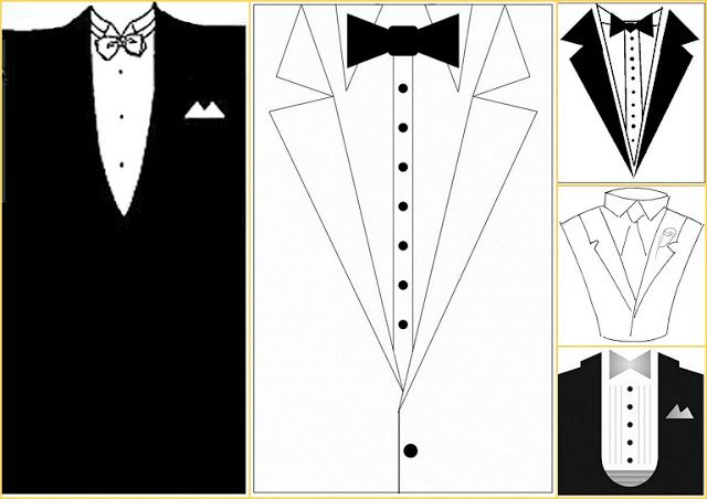 Oh My Fiesta Wedding Tuxedo Templates Diy Father S Day Crafts Scrapbook Printables Free Templates Printable Free