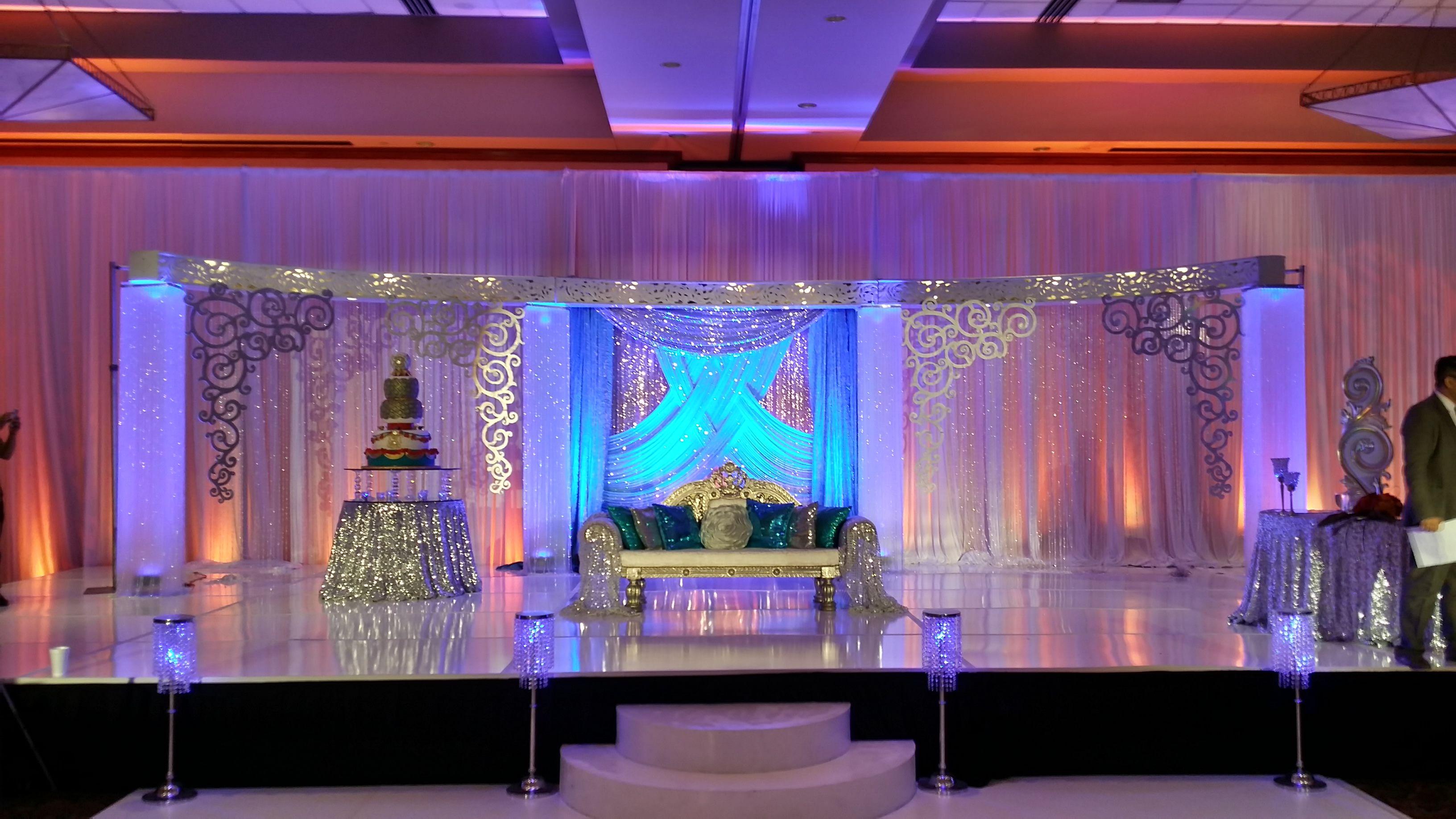 Wedding stage decoration with balloons  Weddings by Farah  wedding decor  Pinterest  Weddings and Wedding