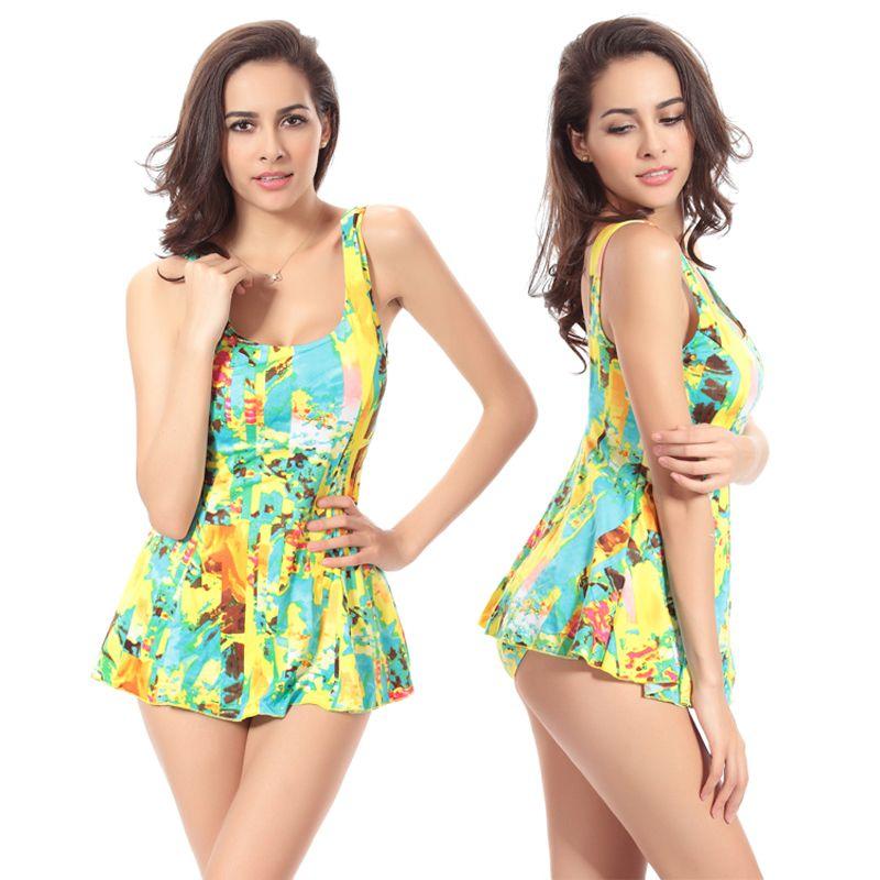 Hot Summer style Plus size XXXL women bathing suit one piece cover ups print  beach bodysuit  Affiliate e53dd261c094