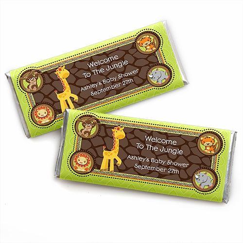 Funfari Fun Safari Jungle Personalized Candy Bar Wrapper Baby
