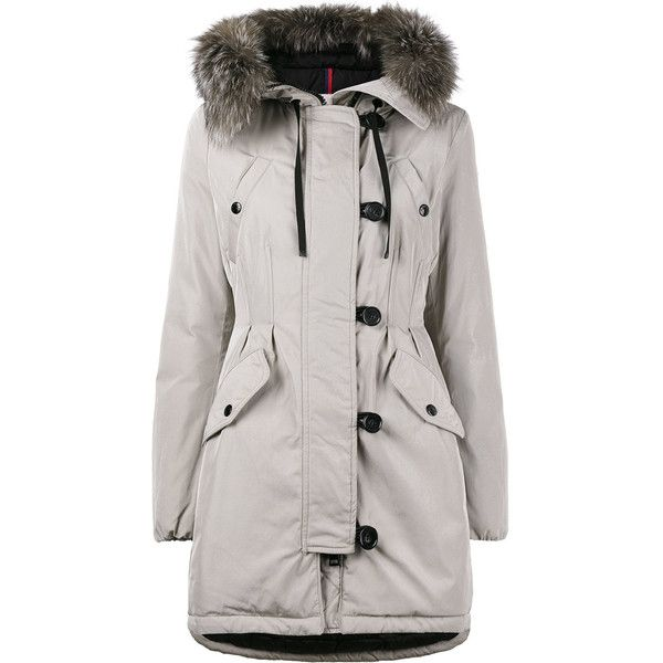 Moncler Mid Length Fitted Parka with Fur Trimmed Hood ($2,120 ...