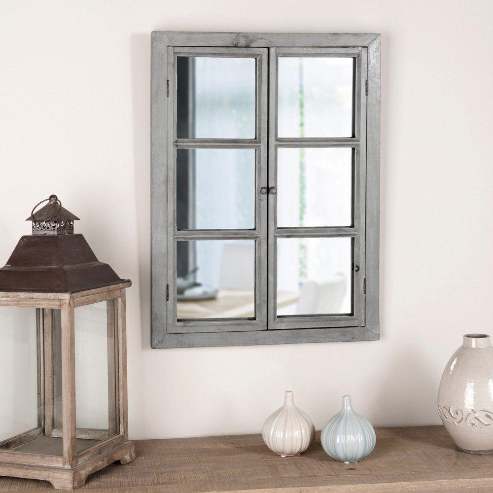 Miroir fen tre maisons du monde 69 90 pour la for Miroir imitation fenetre