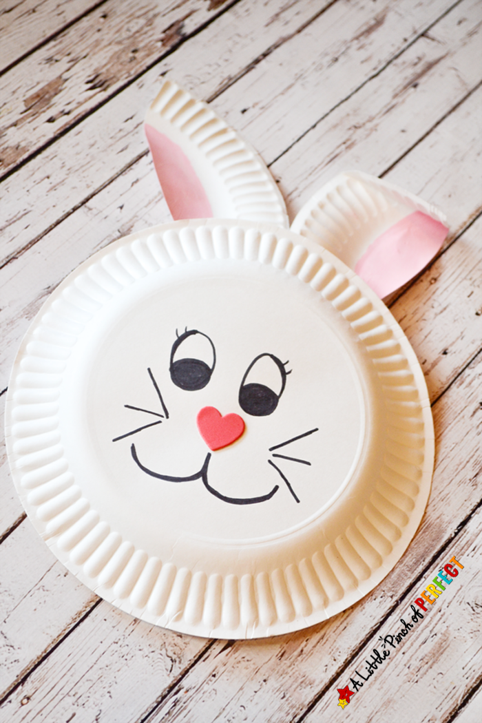 Paper Plate Bunny Rabbit Craft For Kids Perfect Spring Easter Or Crafting After Enjoying A Book With The