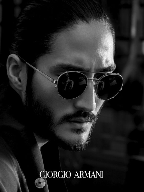 e399d76752238 Tony Thornburg by Serge Guerand   Giorgio Armani SS 2014 l  framesoflife   sunglasses