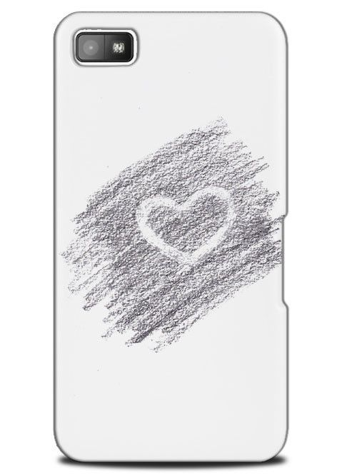 Cute Love Heart Sketch Art Drawing Case Cover Design For Blackberry