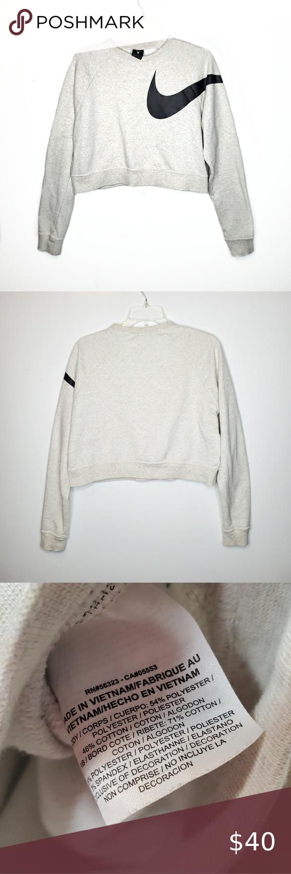 Nike Dri Fit Versa Cropped Sweatshirt Swoosh Logo Crop Sweatshirt Nike Dri Fit Sweatshirts [ 1740 x 580 Pixel ]