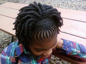 Cornrows and Twists ~ Beautiful girl, beautiful hair!