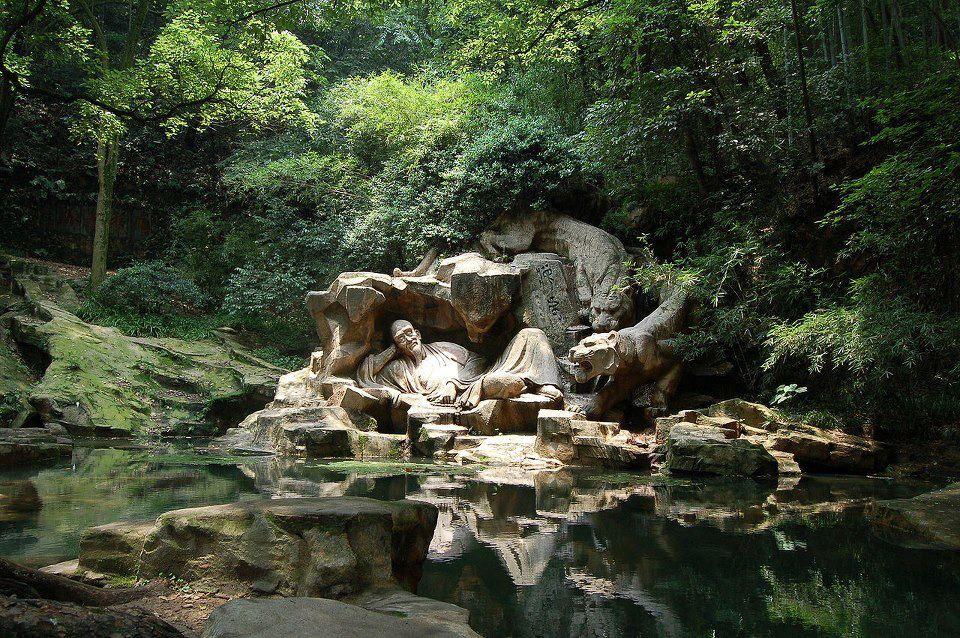 Hupao Spring (Tiger Spring) in Hangzhou, China