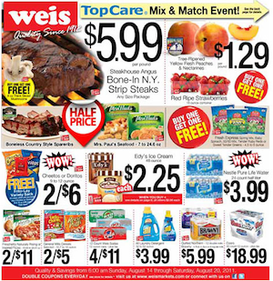 Weis Coupons & Deals for the week of 12/23 Grocery