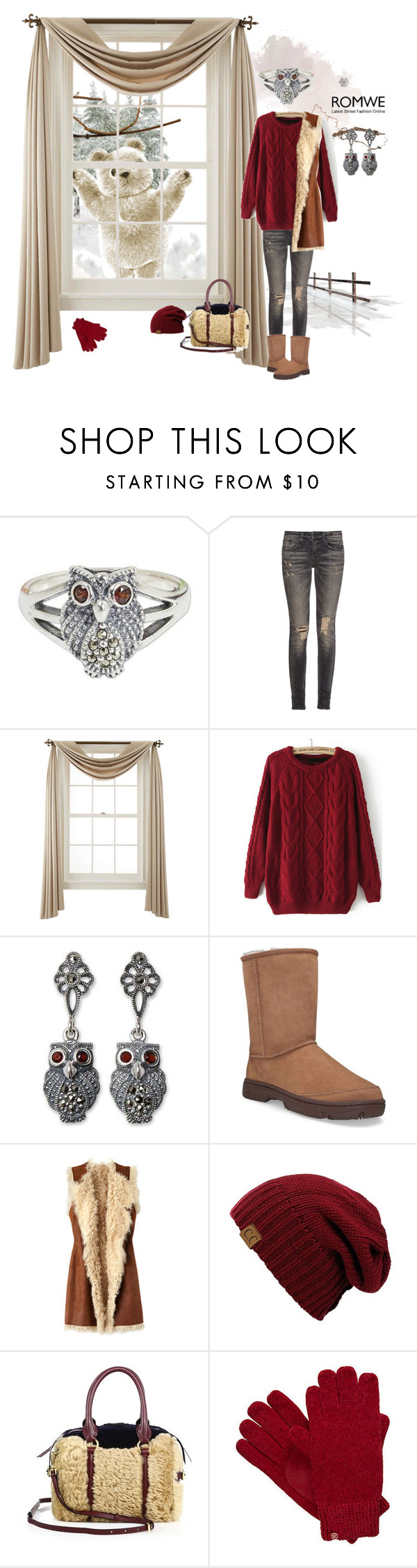 """""""let it snow ... (открой, сова, медведь пришел :)"""" by svetalukashevich ❤ liked on Polyvore featuring NOVICA, R13, Liz Claiborne, UGG Australia, Figue, Burberry and Isotoner"""