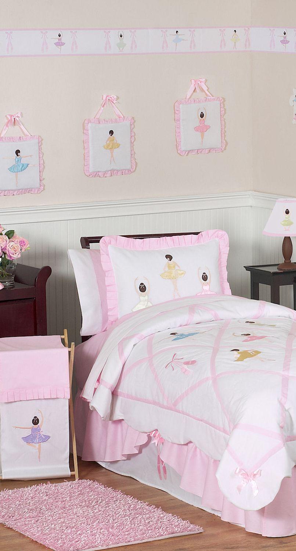 Little Girl' Ballerina Bedding Kaylee Kids Comforter