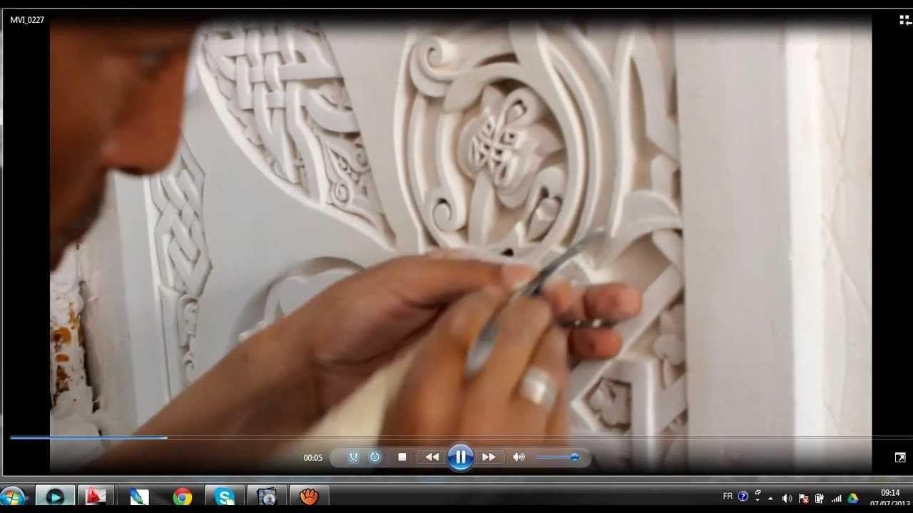 Artisanat Marocain Sculpture Platre Wall Sculptures Sculpture