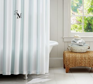 PB Classic Stripe Shower Curtain Potterybarn