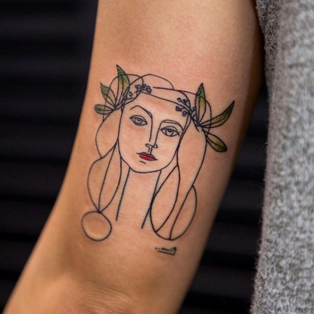 Minimal Tattoo Idea By Picasso Picasso Tattoo Minimal Tattoo