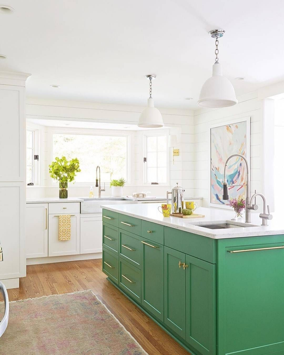 Country Kitchen Green Cabinets: Pin By Laura Denbar On Vista View