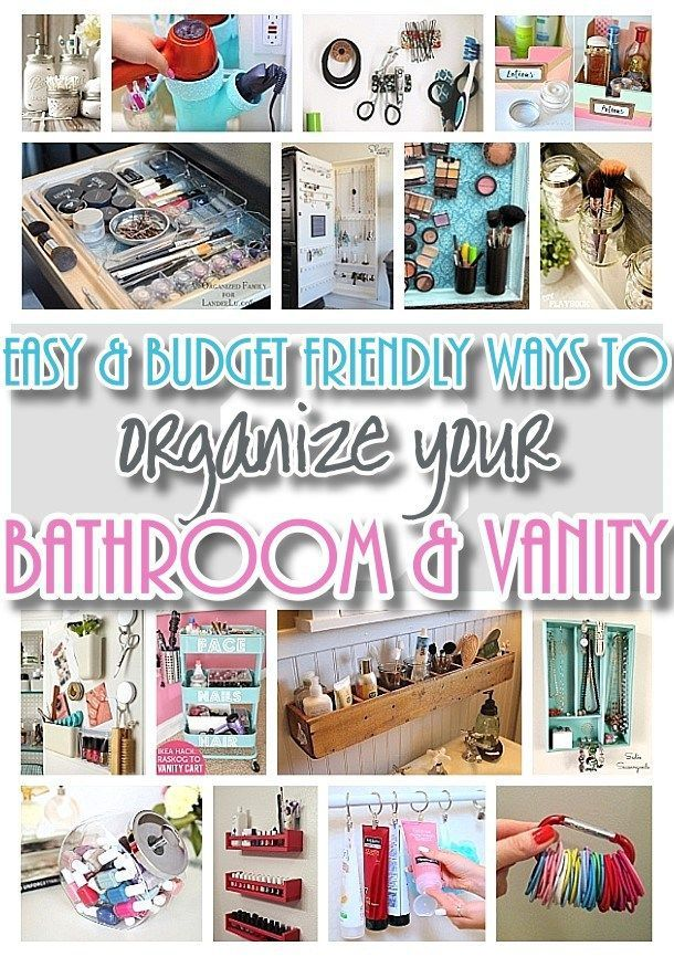 Easy inexpensive do it yourself ways to organize and decorate your easy inexpensive do it yourself ways to organize and decorate your bathroom and vanity the best diy space saving projects and organizing ideas on a budget solutioingenieria Choice Image