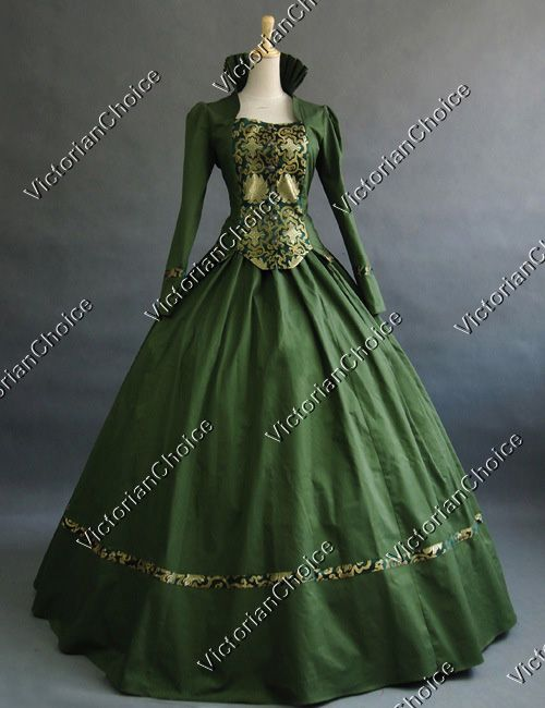 Victorian Gothic Civil War Ball Gown Period Dress Prom