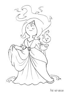 Adventure Time Adventure Time Coloring Pages Adventure Time Flame Princess Princess Coloring Pages