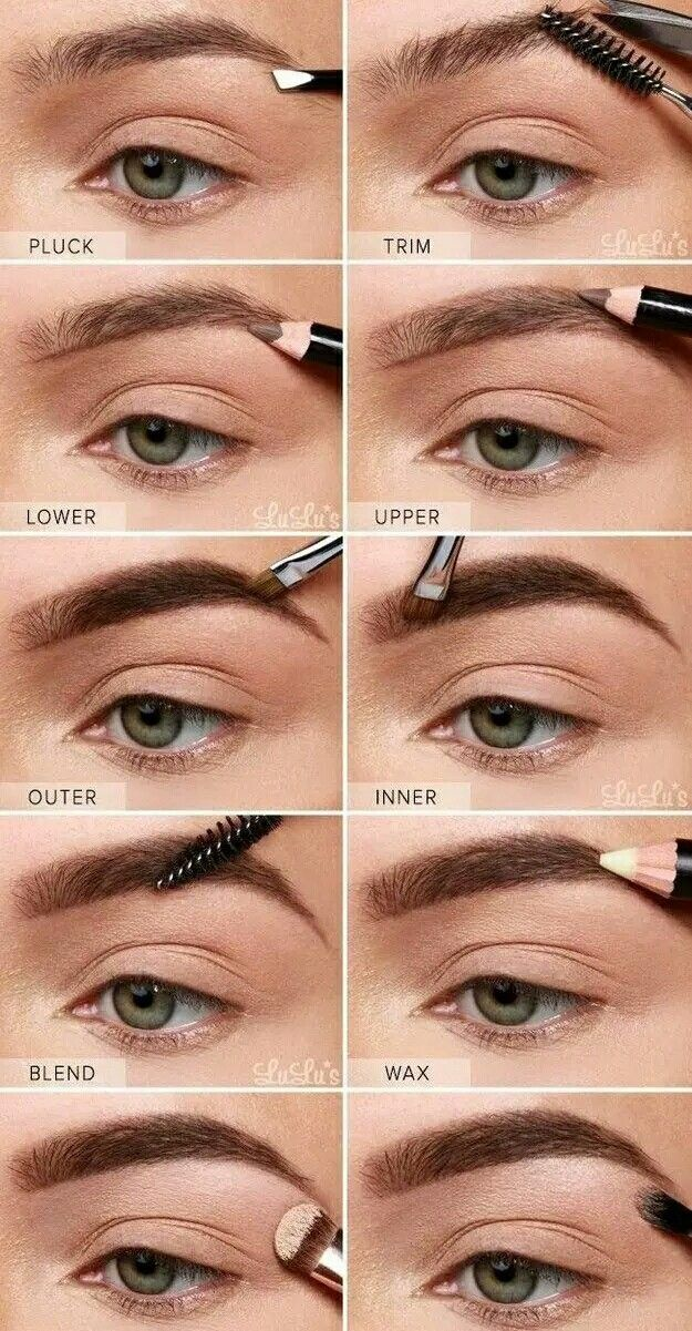How To Draw Eyebrow Step By Step Makeup Eye Makeup
