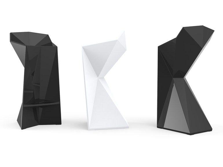 Sgabello alto da giardino collezione vertex by vondom design