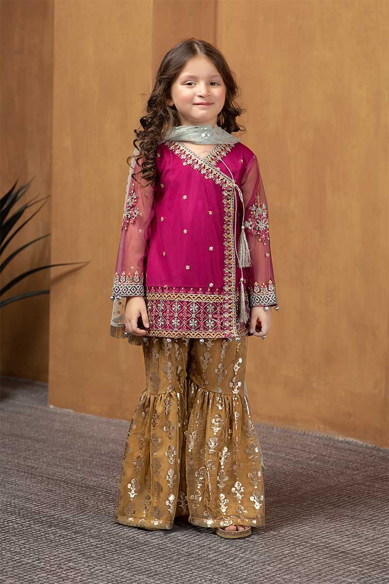 Maria B Fancy Kids Dresses Designs For Girls 2020 21 Collection In 2020 Kids Designer Dresses Pakistani Kids Dresses Dresses Kids Girl