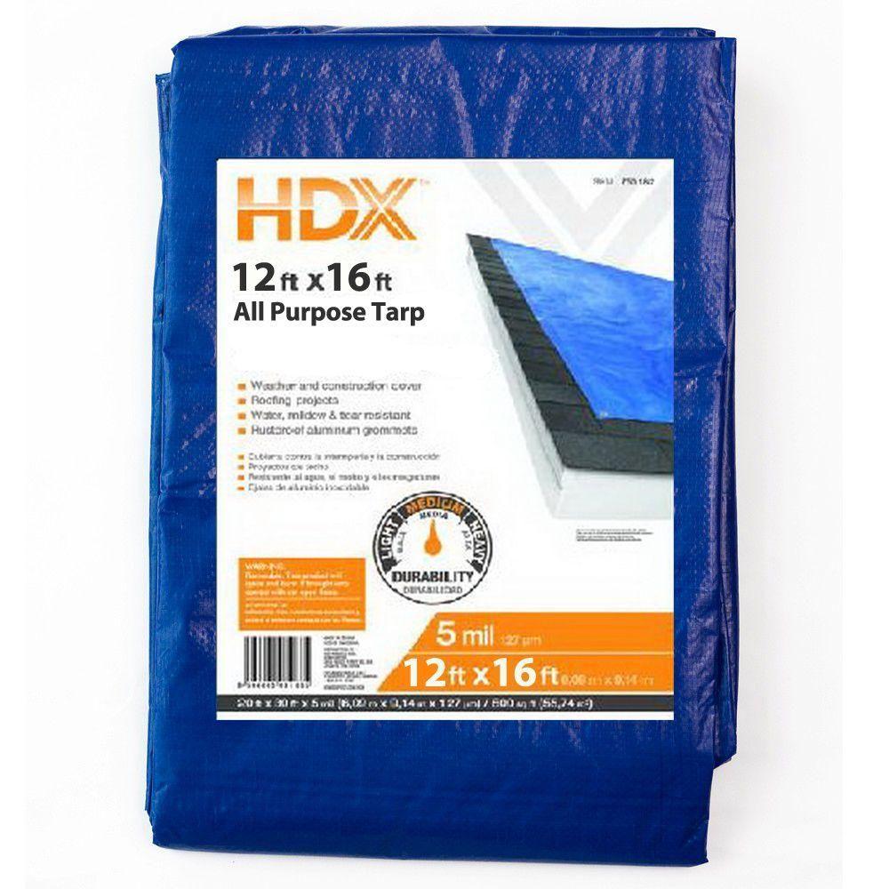 HDX 12 ft. x 16 ft. General Purpose Tarp BP1216 at The