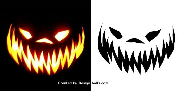 10 Free Halloween Scary Pumpkin Carving Stencils, Patterns - pumpkin carving template