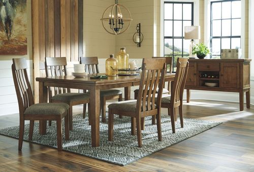 Leahlyn Brown Extendable Rectangular Dining Table from ...