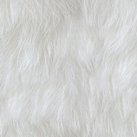 White Faux Fur Seamless Background Texture Pattern