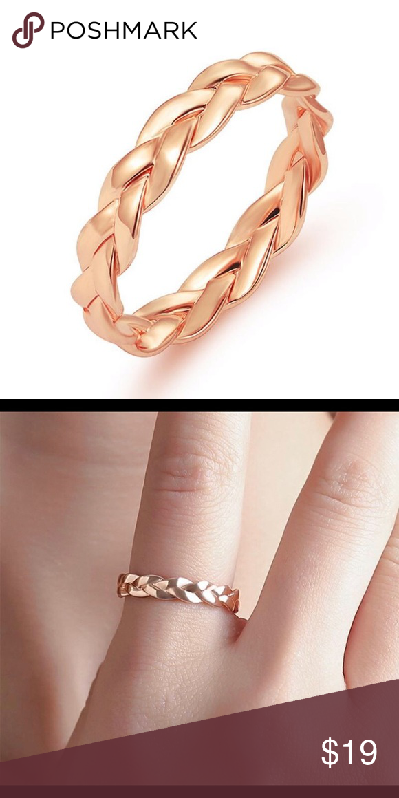 HP🎉 Rose Gold Braided Ring Band Boutique Braided ring
