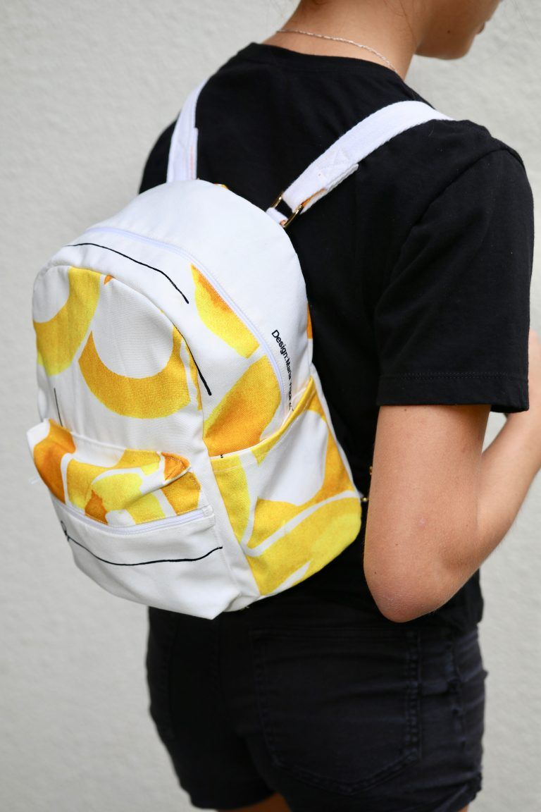 fb55ba4a30 Small backpack sewing pattern - DIY backpack