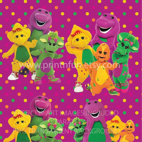 Barney Party Background