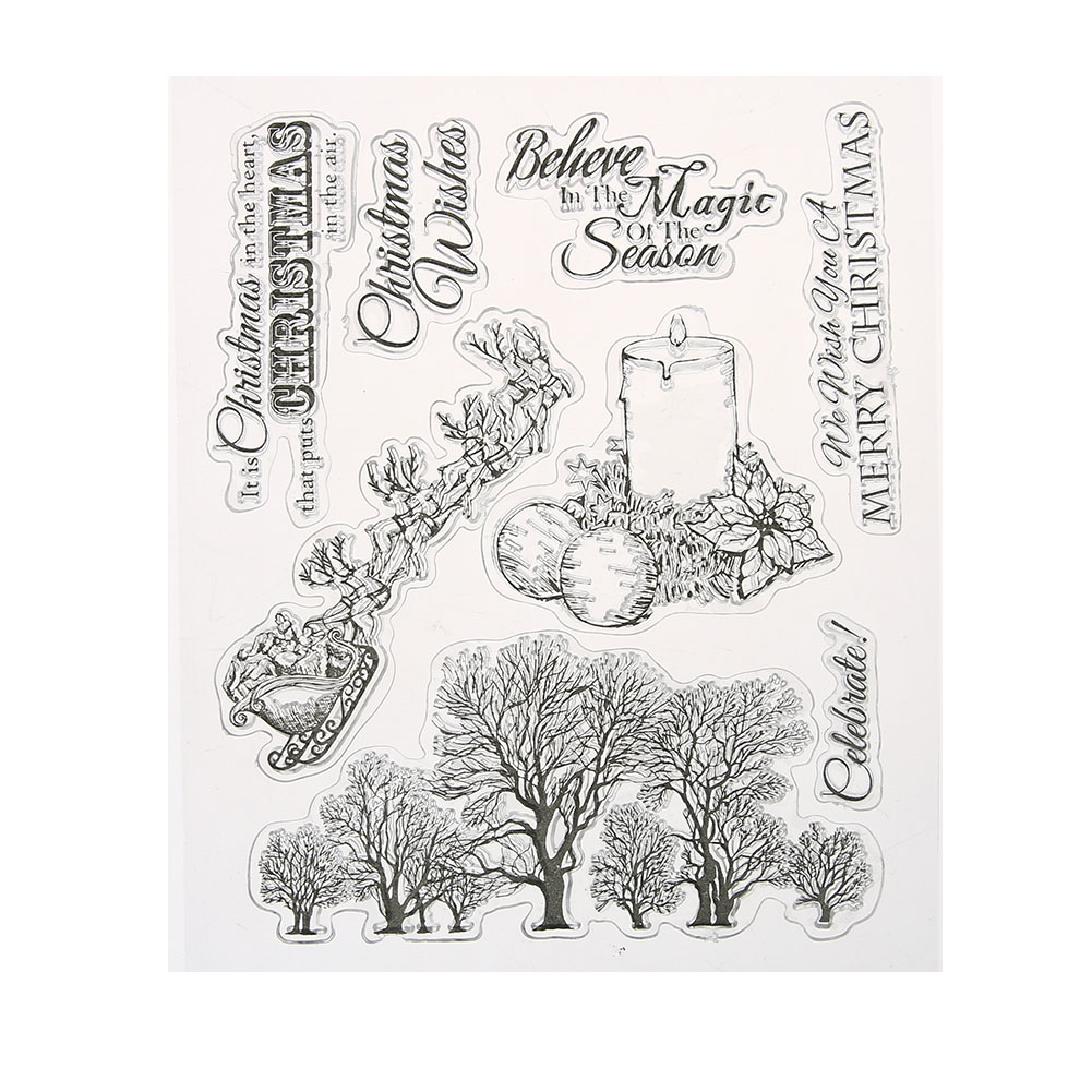 1.09$  Buy here - http://alix7s.shopchina.info/go.php?t=32804683911 - Christmas Wishes Transparent Clear Silicone Stamp/Seal for DIY scrapbooking/photo album Decorative Clear Stamp Sheets  #aliexpresschina