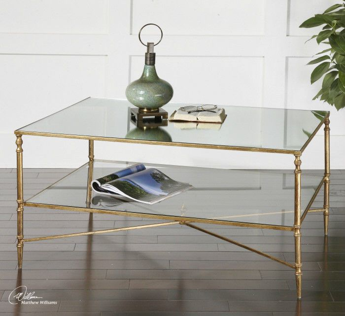 Glass Coffee Table With Gold Trim Gold Coffee Table Mirrored Coffee Tables Coffee Table