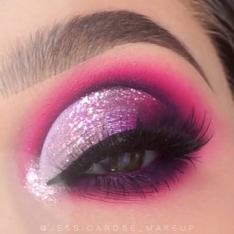 PURPLE SPARKLE GLAM MAKEUP TUTORIAL – Maquillaje