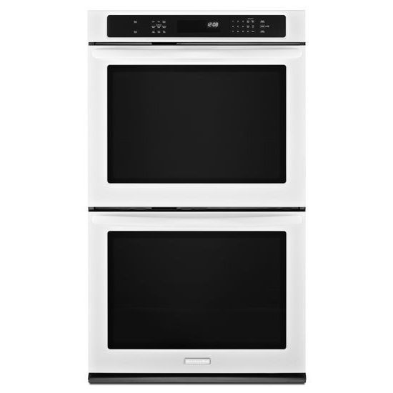 Kitchenaid Kebs209bwh Double Electric Oven With Convection White