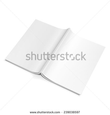 Blank Opened Magazine Back Cover, Book, Booklet, Brochure On - blank brochure template