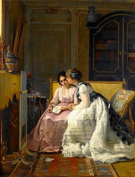 Baugniet, Charles Louis (b,1814)- Carta de Amor, 1870 -2a