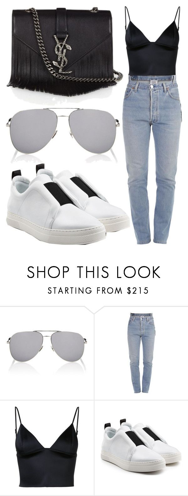 """""""Untitled #948"""" by clothyoulike ❤ liked on Polyvore featuring Yves Saint Laurent, Vetements, T By Alexander Wang and Pierre Hardy"""