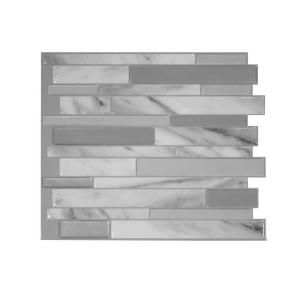 Peel And Stick Mosaic Decorative Wall Tile Smart Tiles Milano Carrera 1155 Inw X 965 Inh Peel And Stick