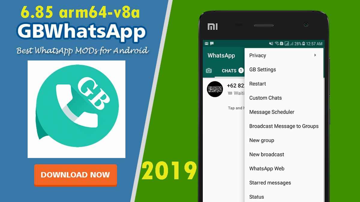 Download GBWhatsapp v6.85 arm64v8a 2019 Android apps