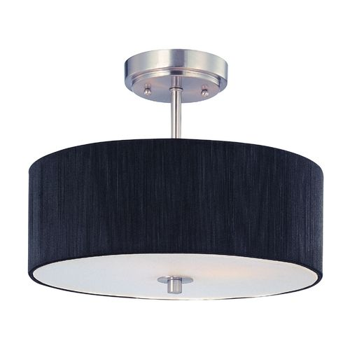 Design classics modern semi flushmount ceiling fixture with drum shade dcl 6543 09