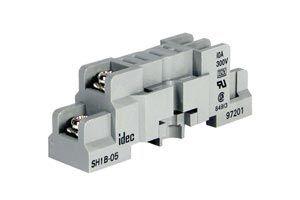 idec sh1b 05 socket din mount screw type relay base