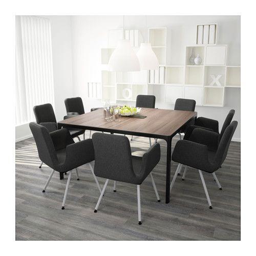 bekant table conf rence gris noir mobilier bureau et pi ces de monnaie. Black Bedroom Furniture Sets. Home Design Ideas