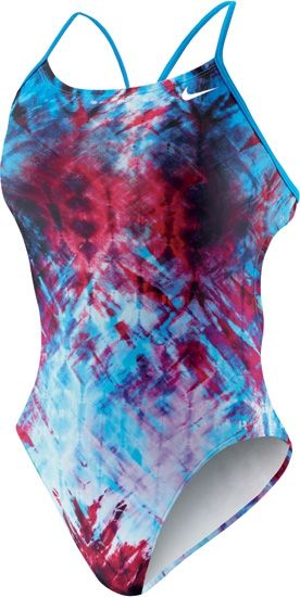 Nike Swim Fractured Tie Dye Female Cut Out Tank Nk