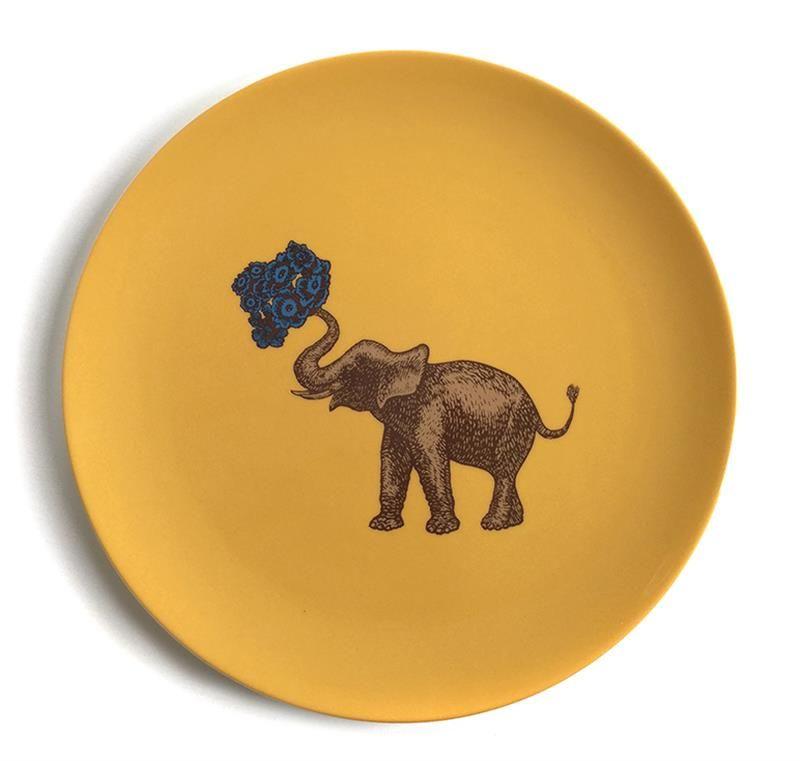 Elephant Plates Yellow Dinner Plate Animal Plates Colourful Plates  sc 1 st  Pinterest & Elephant Plates Yellow Dinner Plate Animal Plates Colourful ...